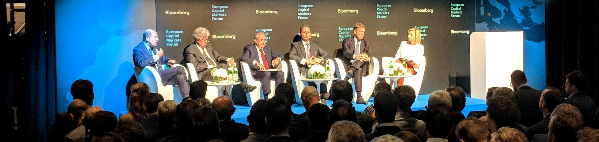 Il Ministro Tria interviene all'evento Bloomberg